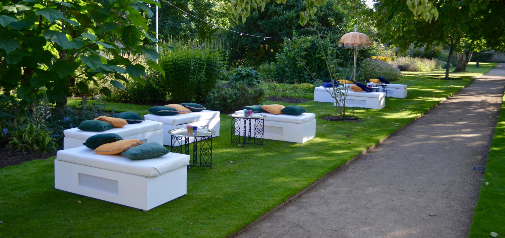 Sofa for Event in the Garden