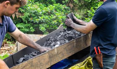 Making Charcoal at the Arboretum