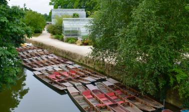 River Cherwell with Glasshouses and Punts
