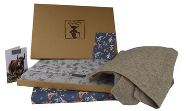mc yak scarf with gift wrap with border