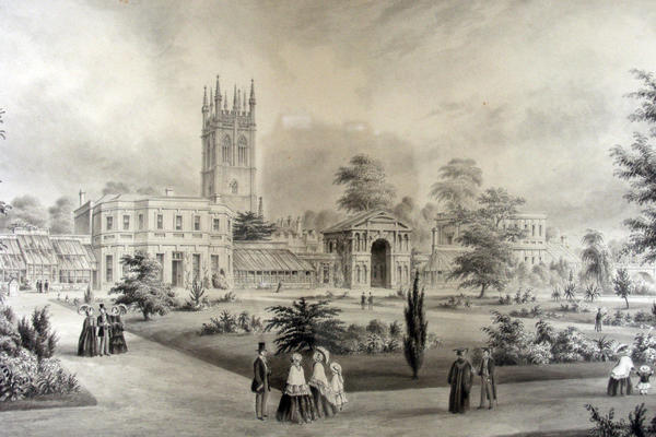 1900 walled garden