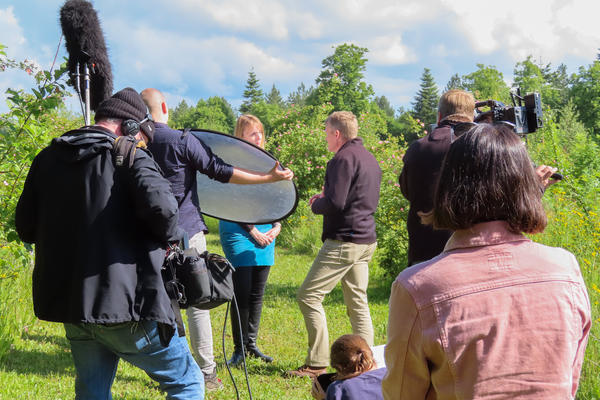bbc countryfile  harcourt arboretum  filming at the arboretum