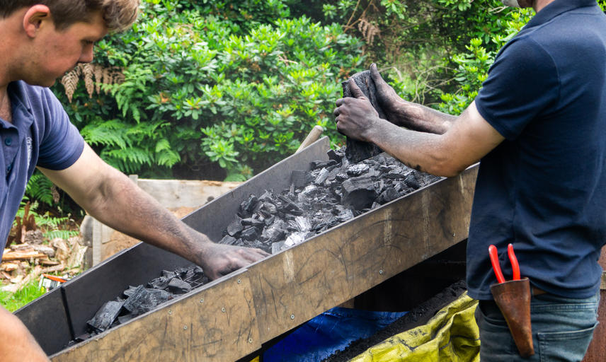 Making Charcoal at the Arboretum